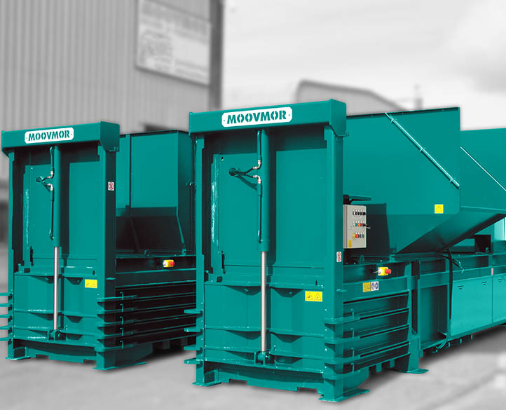 HX600 50T horizontal waste baler with low loading height