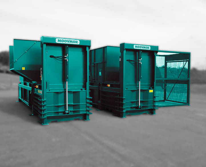 HX600-50T horizontal waste baler for large commercial & manufacturing baling operations