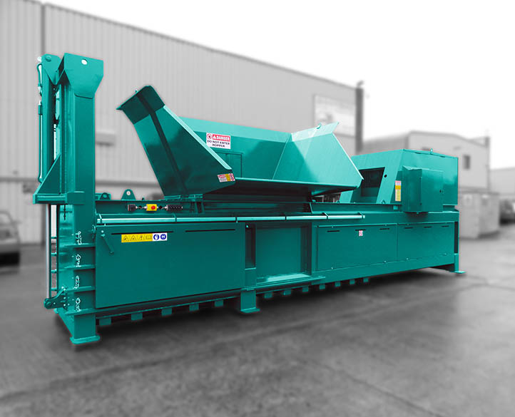 HX800-80T heavy duty horizontal waste baler