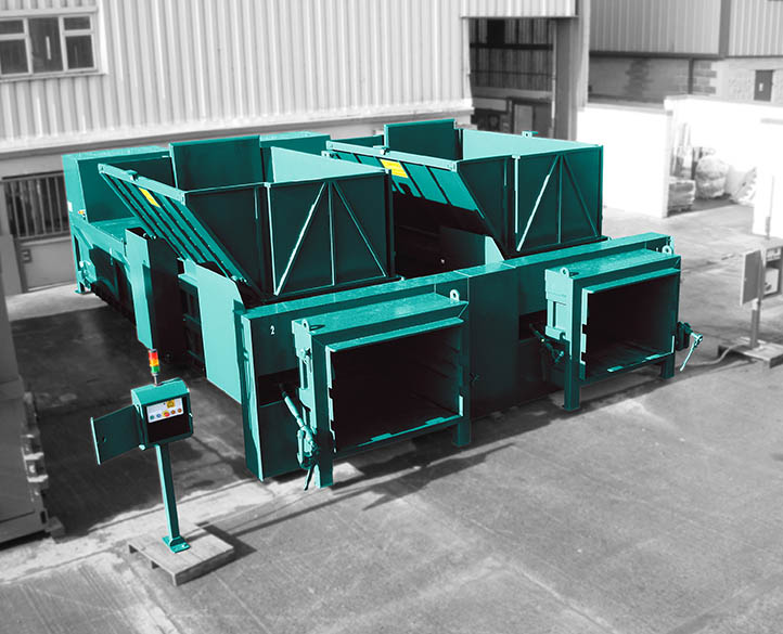 ground level installed transfer waste compactors with seperate control panel