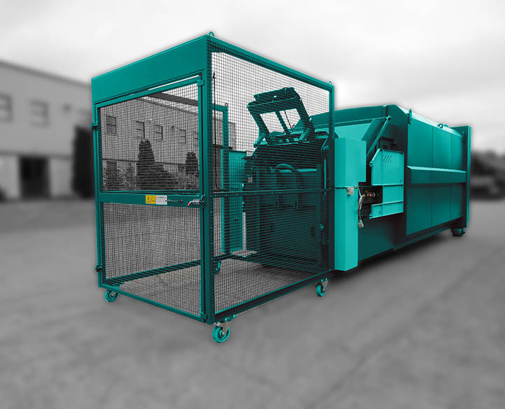 enclosed hopper with interlock