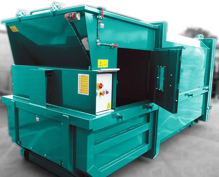 compactor waste input area