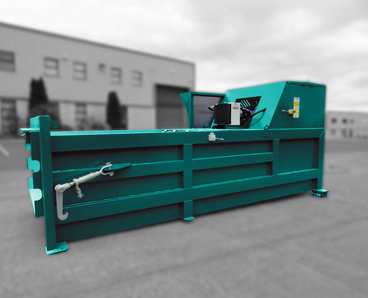 full view of the 3500 Static Waste Compactor series