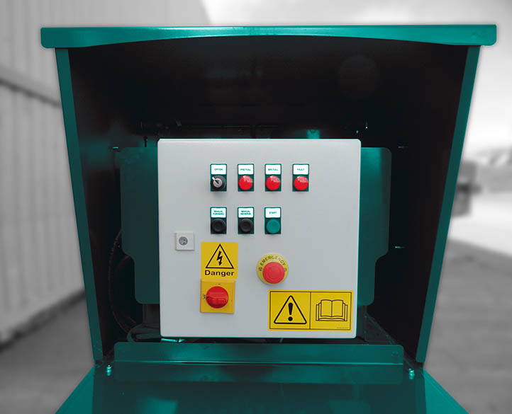 control panel of a mini static compactor