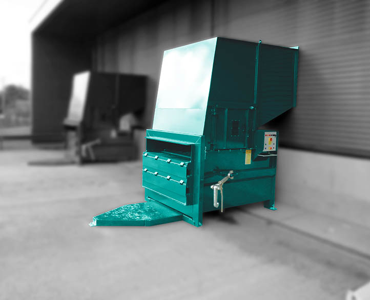 space saving compactor installed at a large industrial operations