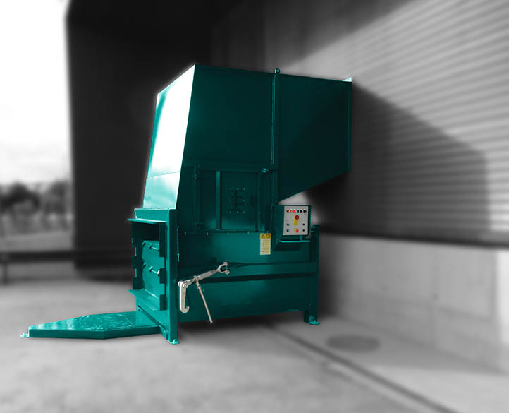 compactor installed at factory truck loading bay