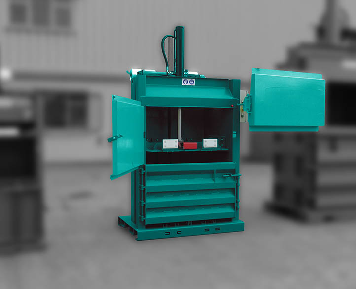 inside view of a vertical baler