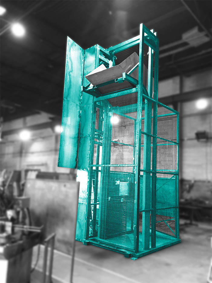 A Moovmor designed and manufactured customised bin lifter