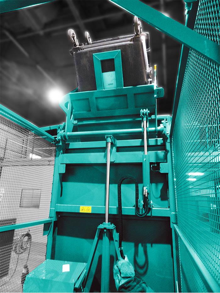 High level bin lifter by Moovmor